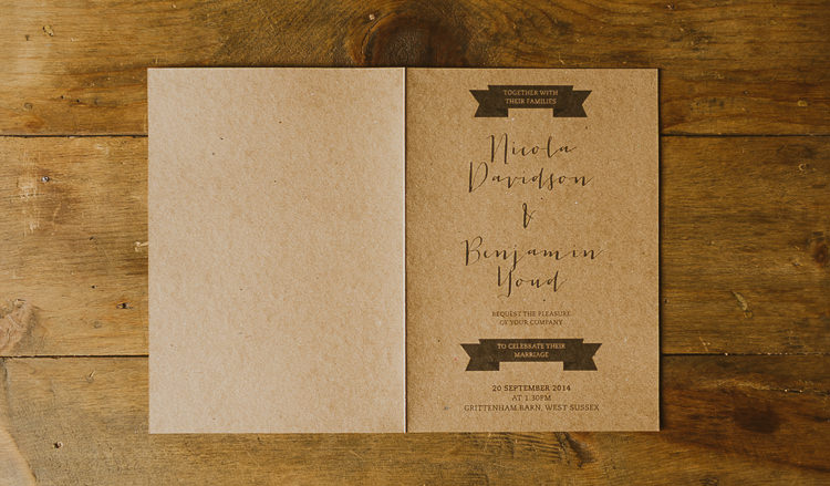 Natural Wedding Invitations 13