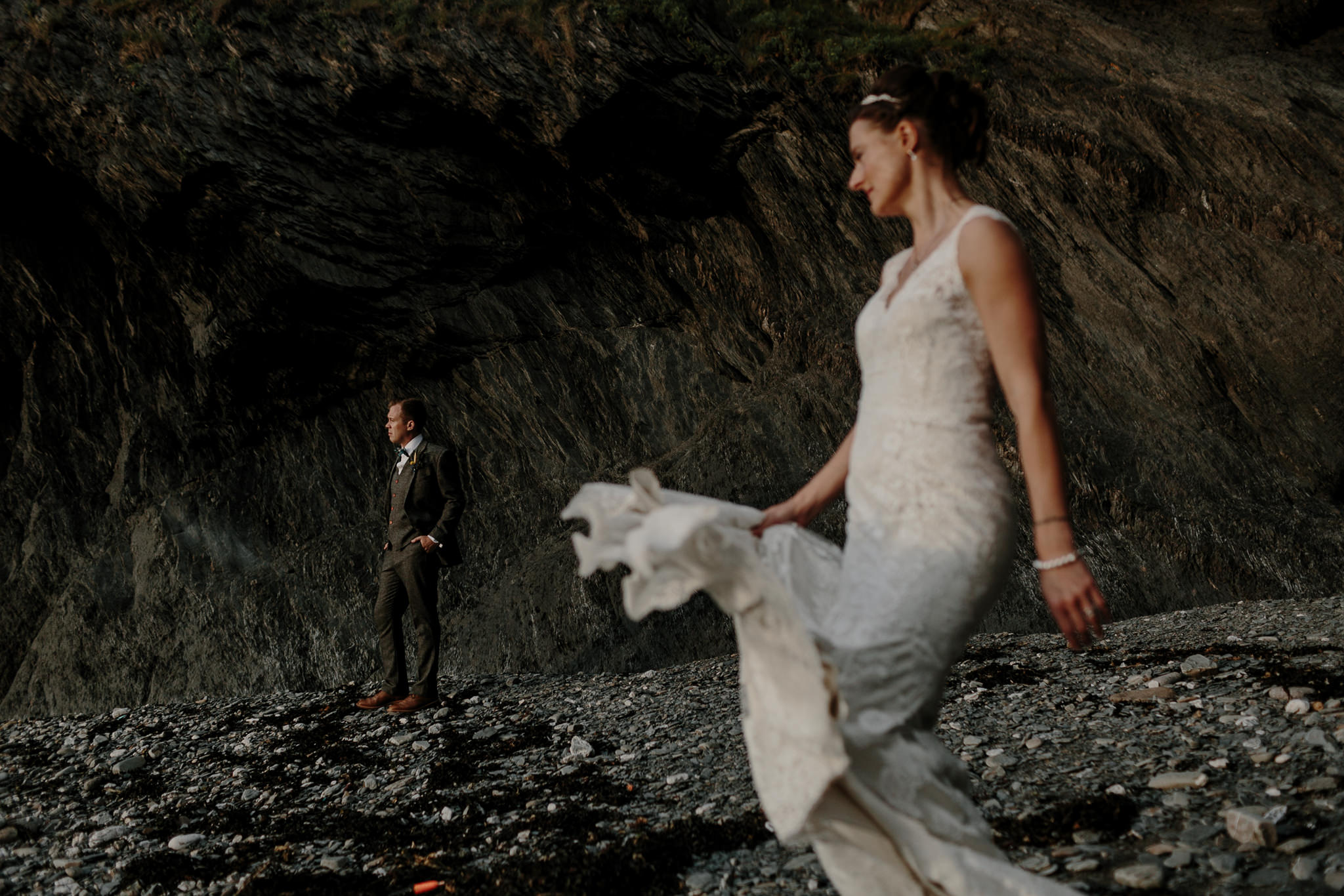 Tunnels Beaches Devon Wedding Photographer 75