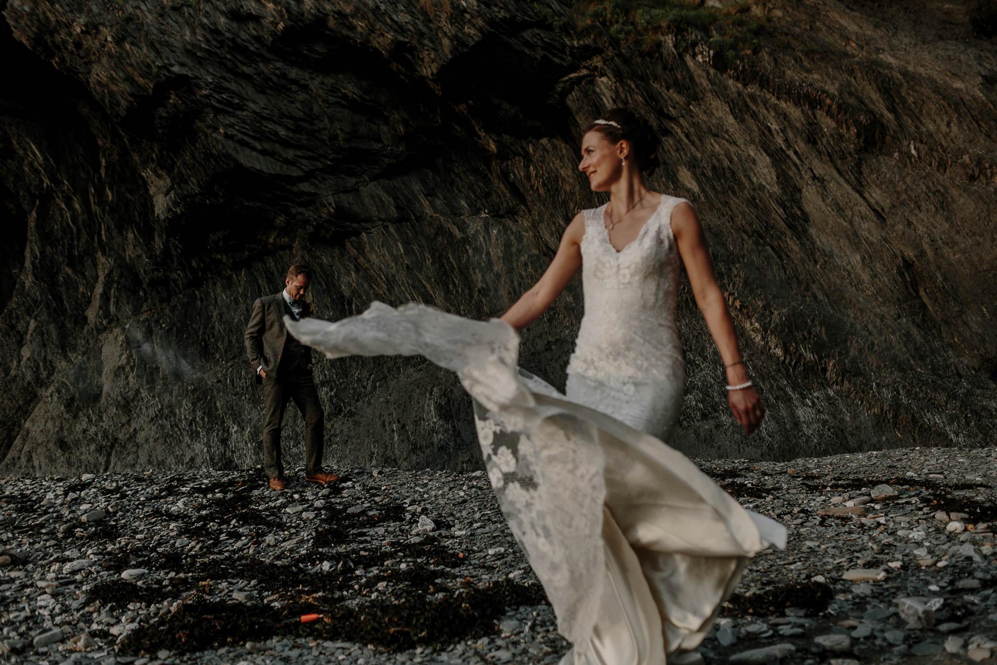 Tunnels Beaches Devon Wedding Photographer 76