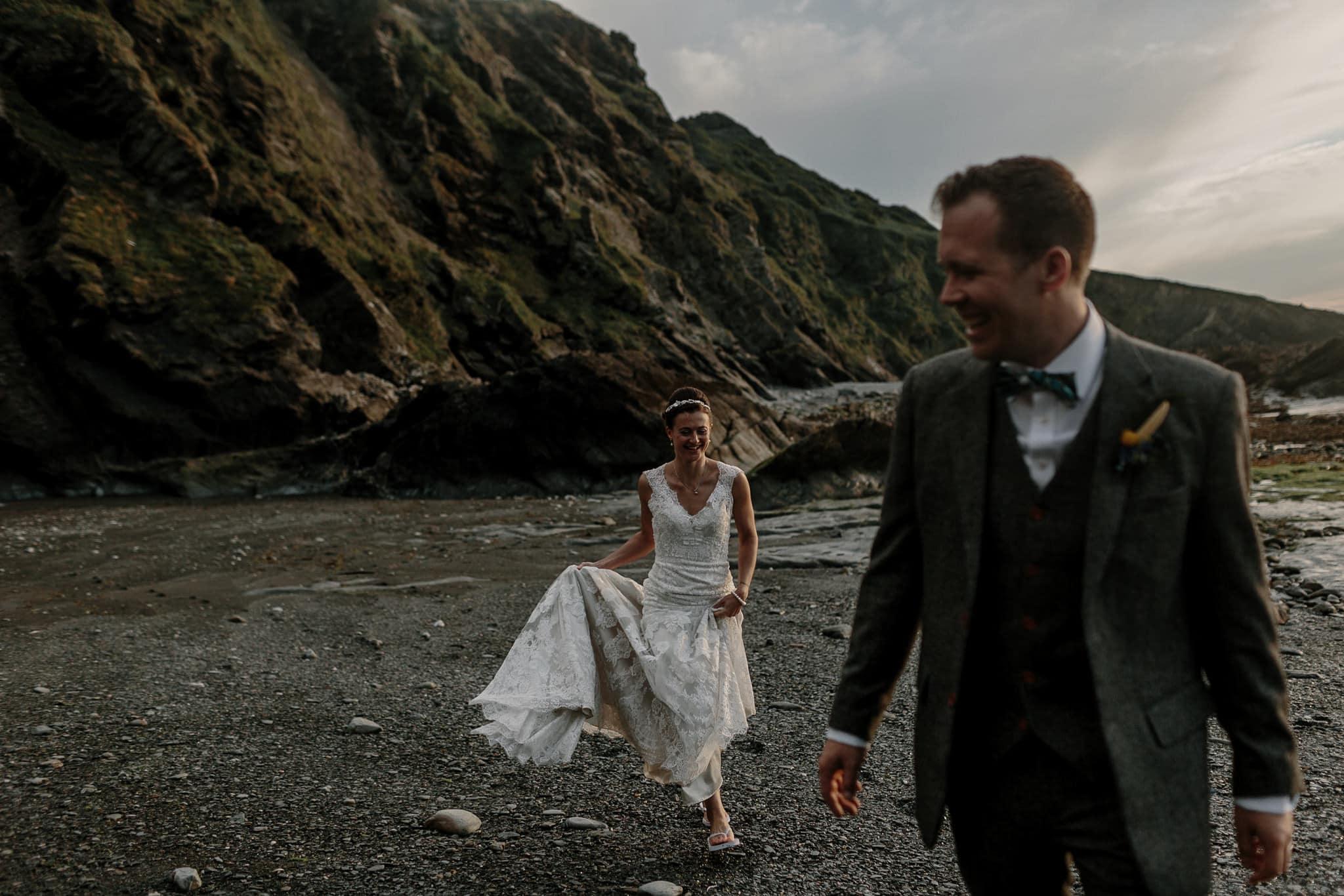 Tunnels Beaches Devon Wedding Photographer 82