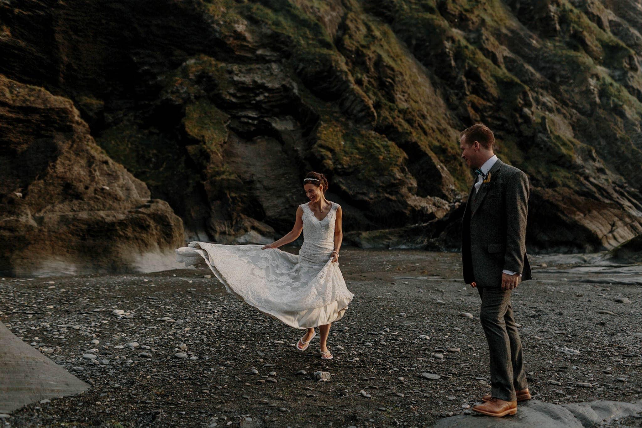 Tunnels Beaches Devon Wedding Photographer 83