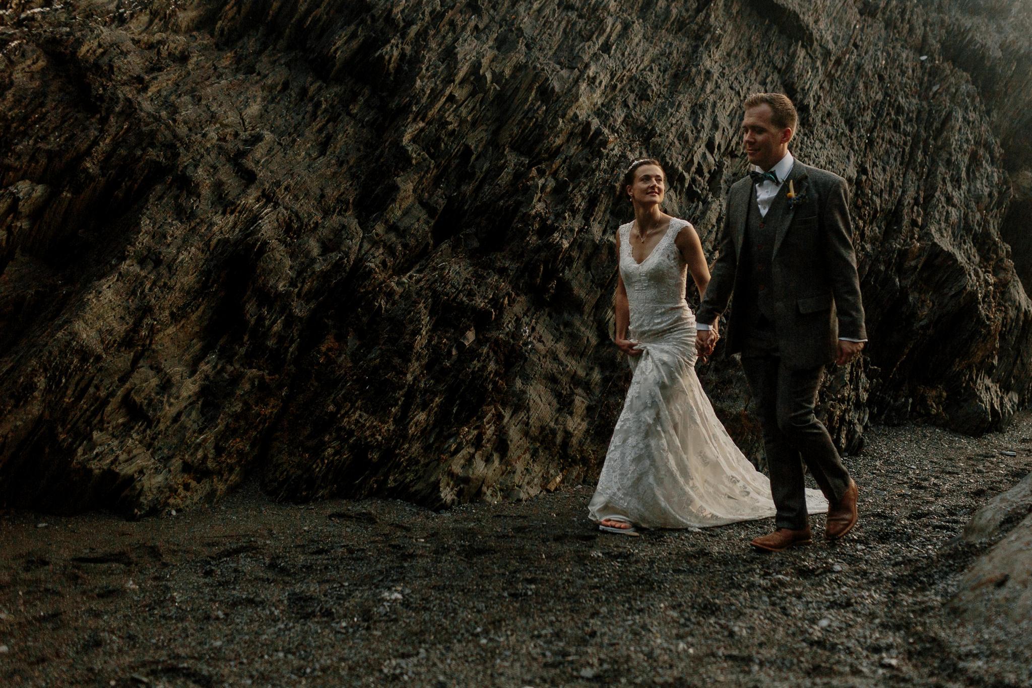 Tunnels Beaches Devon Wedding Photographer 91
