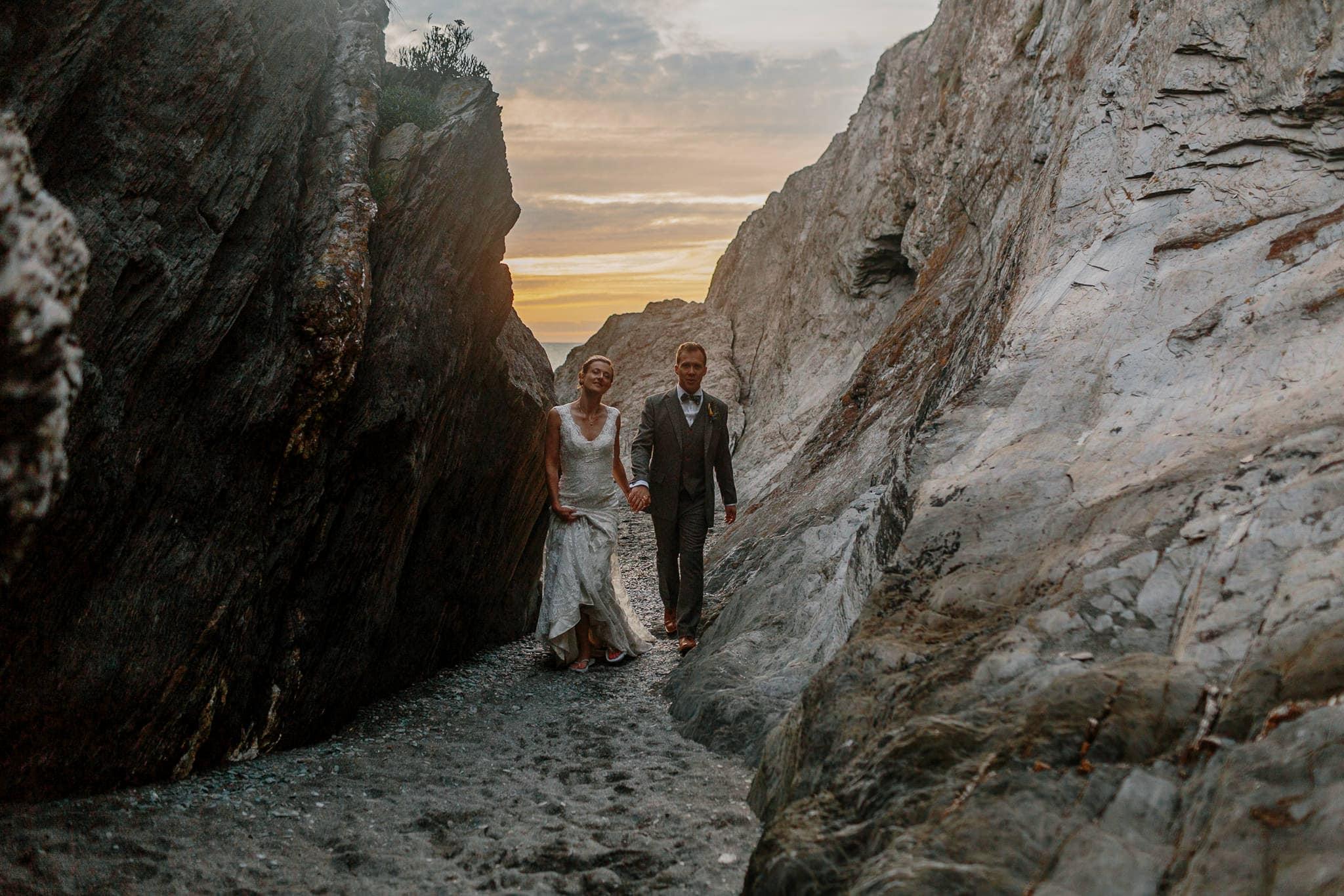 Tunnels Beaches Devon Wedding Photographer 93