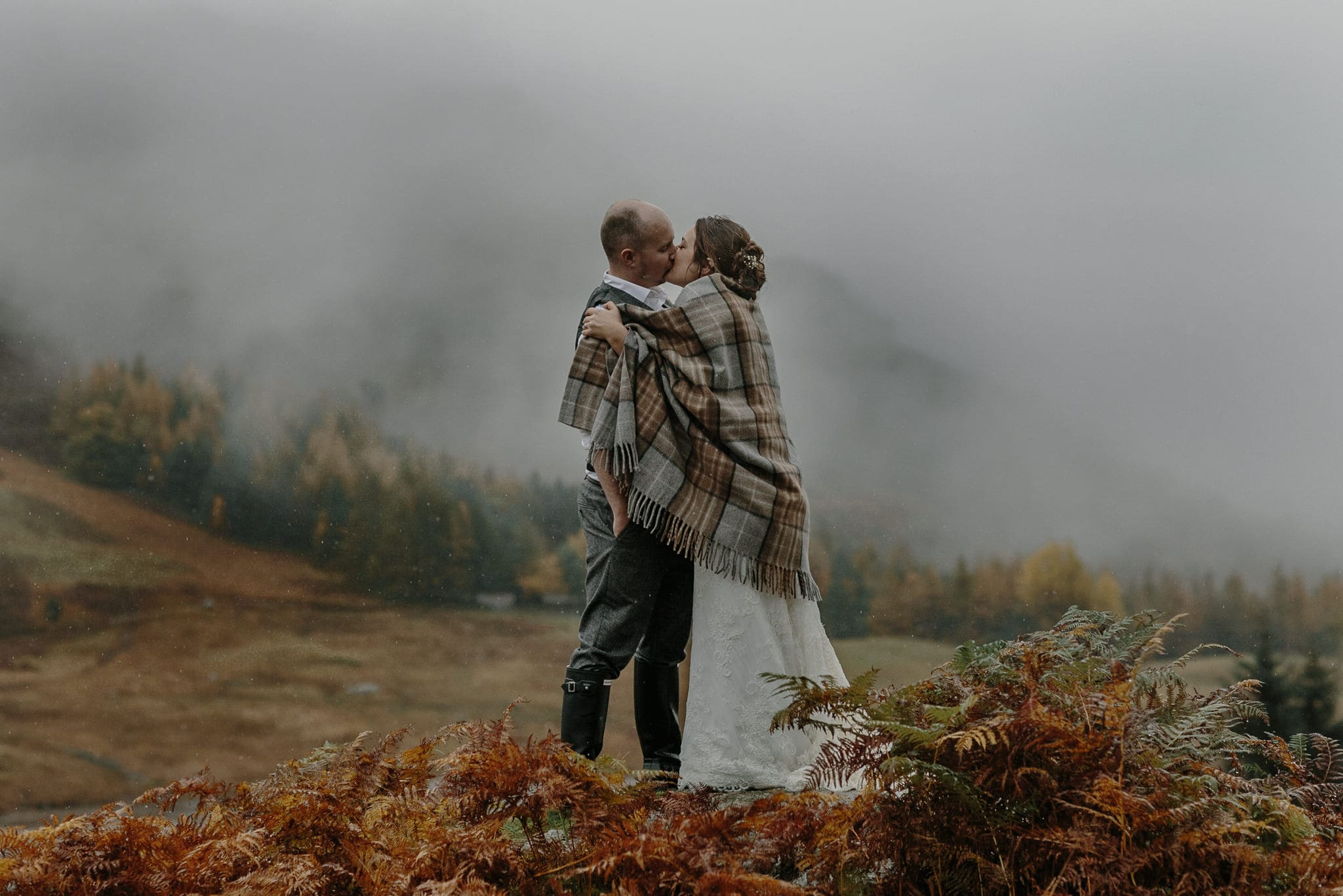 Langdale Valley Blea Tarn Elopement Kiss