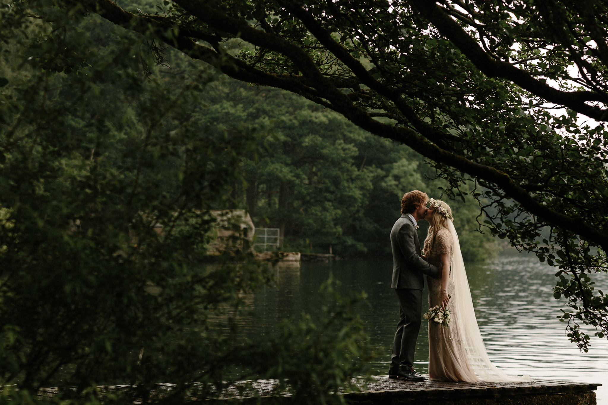 Romantic Wedding by the Lake