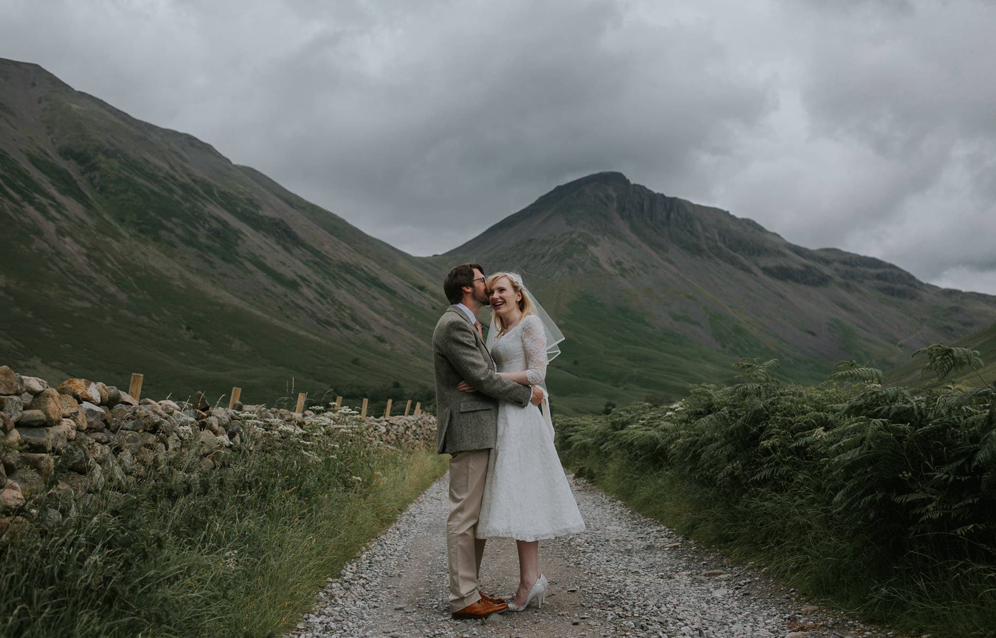 Wasdale Inn Wedding Couple