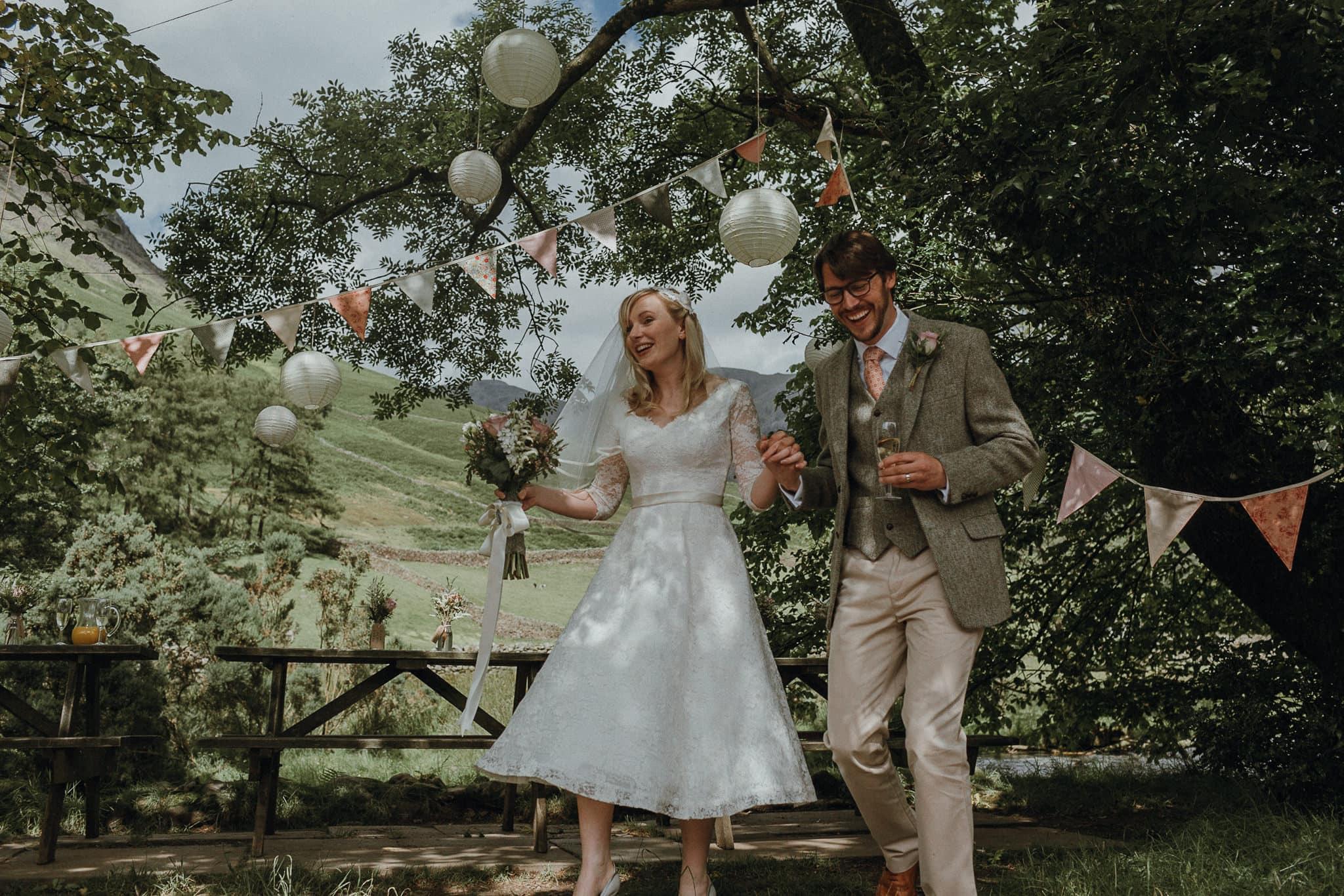 Bride & Groom at Wasdale Head Lake District