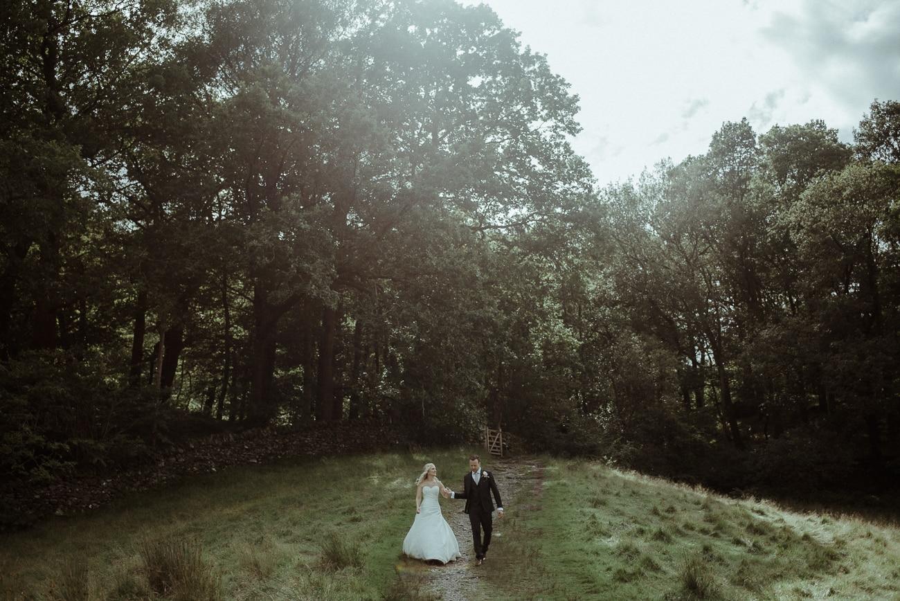 Bride and Groom at Cote How Wedding Venue