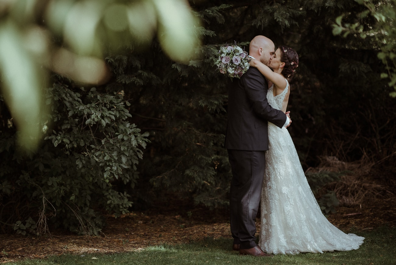 Bride and Groom at Eden Barn