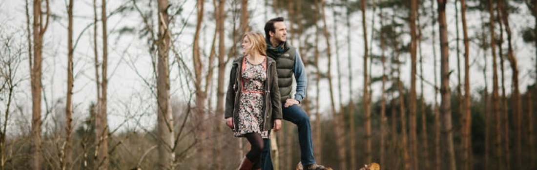 Alexis & Joe at Haughmond Hill Woods – Engagement